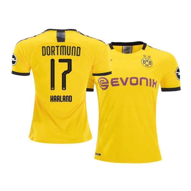 Borussia Dortmund 2019 20 Erling Haaland Home Bvb Jersey In 2020 Soccer Shirts Soccer Jersey Borussia Dortmund