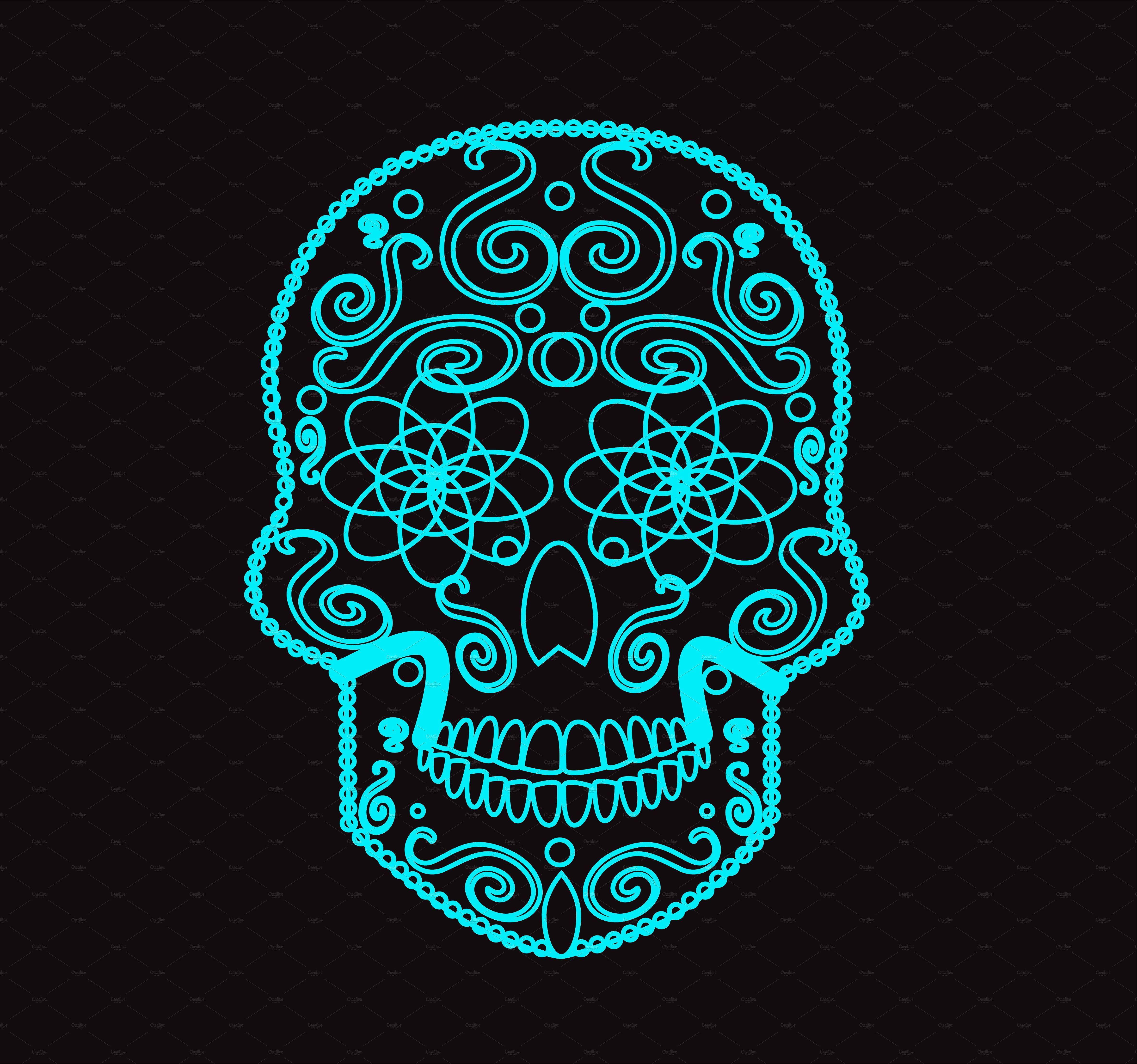 Skull vector icon neon Vector icons, Skull, Vector