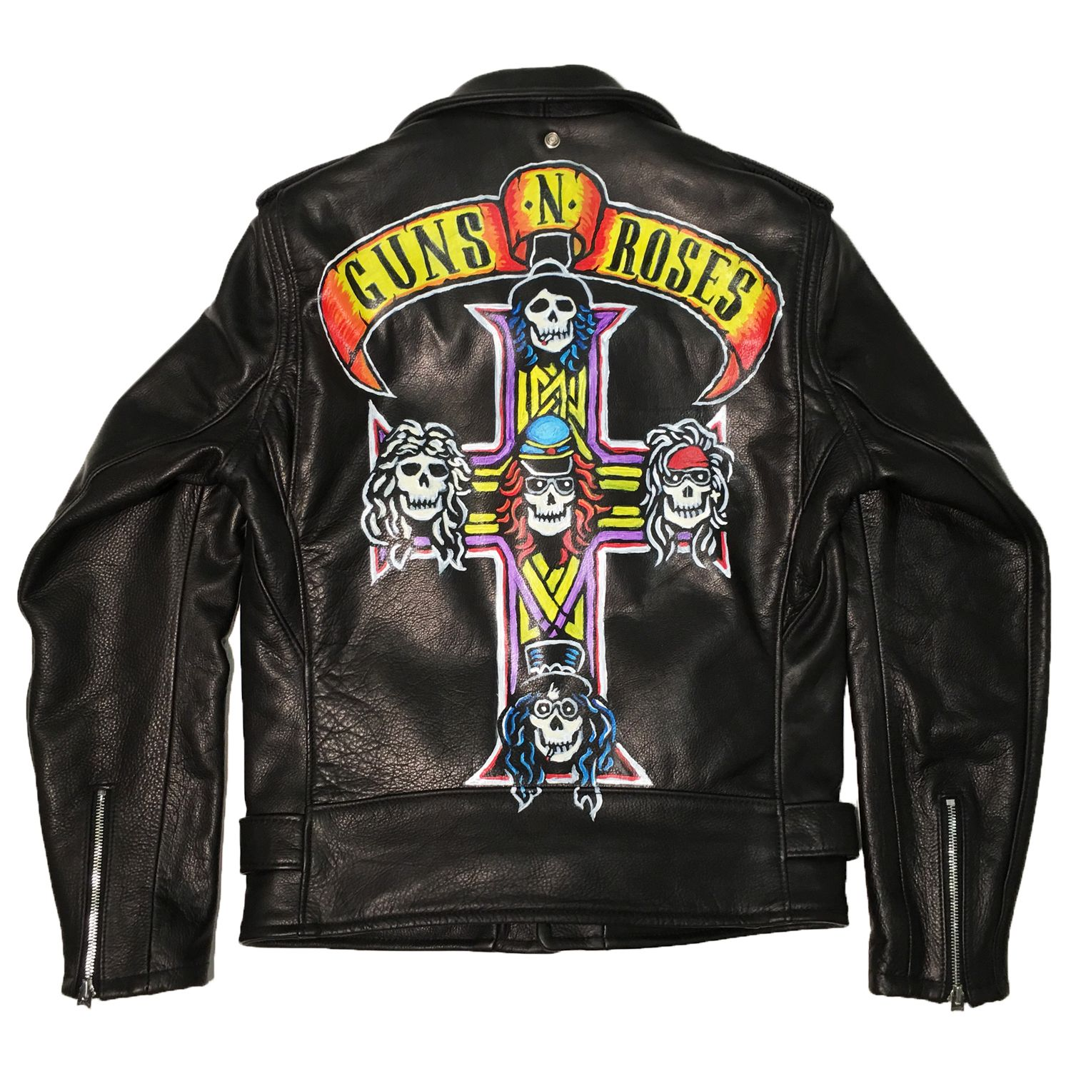 Leather jacket with roses - A John Varvatos X Guns N Roses Leather Jacket