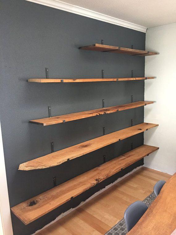 Metal Shelf Brackets Floating Shelf Hardware In Steel Black Etsy Floating Shelves Diy Metal Shelf Brackets Metal Shelves