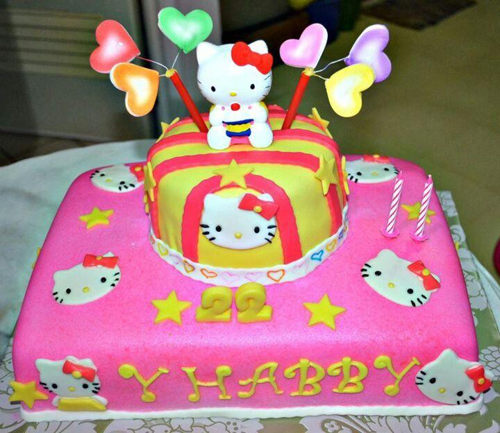 Hello kitty cake My Cakes Pinterest Hello kitty cake, Kitty
