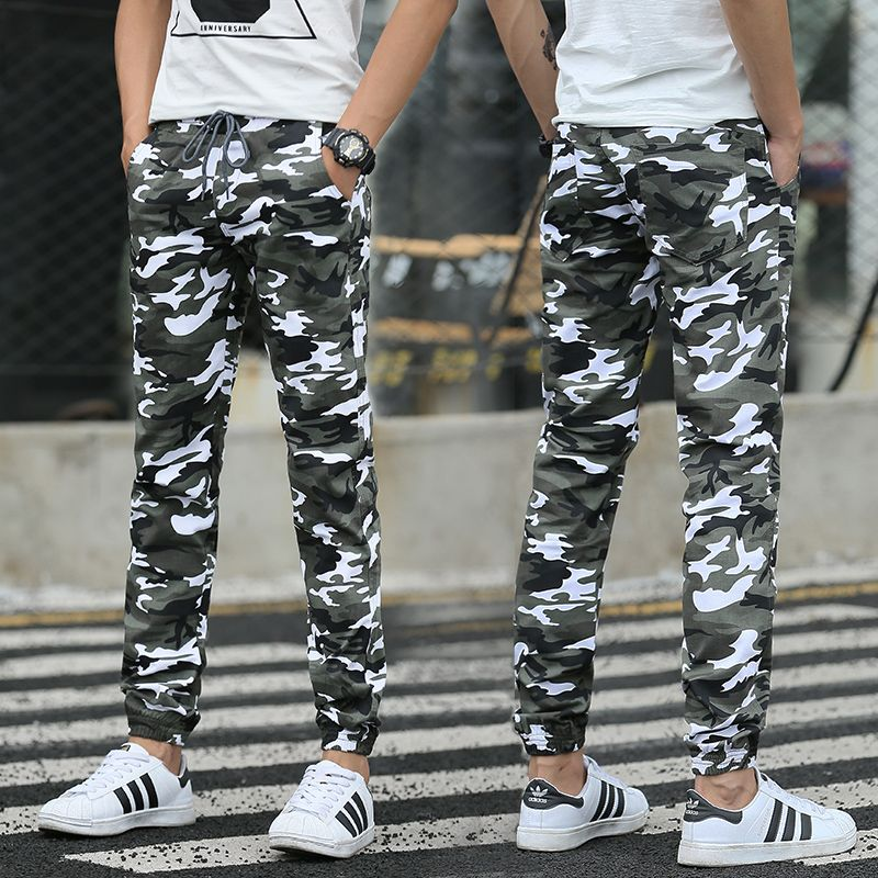 Men Casual Pants New 2017 Camouflage Slim Fit Army Camouflage Trousers  Pencil Camo Pants Hip Hop
