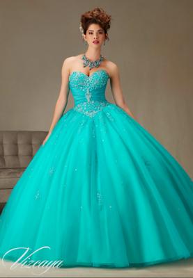 07a818b56 Vestidos de 15 Años Azul Turquesa juveniles