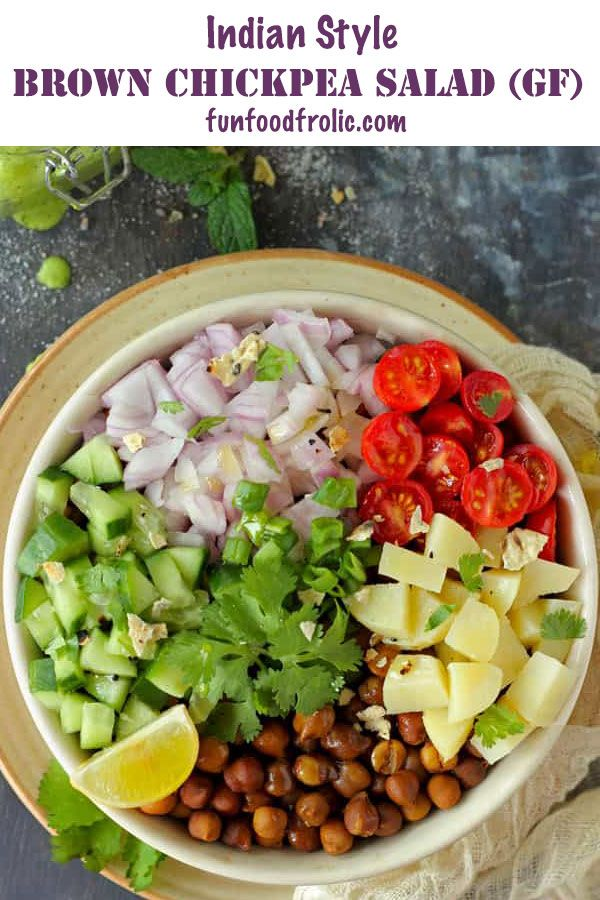 Healthy Chana Salad Recipe Gluten Free Salad Fun Food Frolic Recipe Veg Salad Recipes Easy Green Salad Recipes Healthy