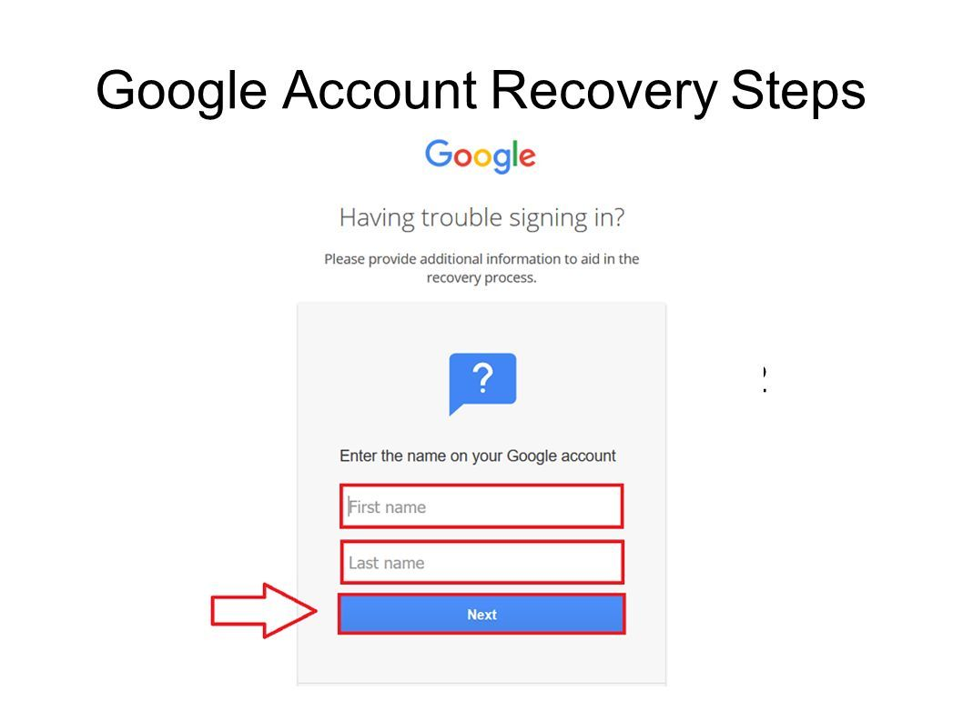 How To Recover Google Account Without Phone Number And Password Account Recovery Google Account My Google Account