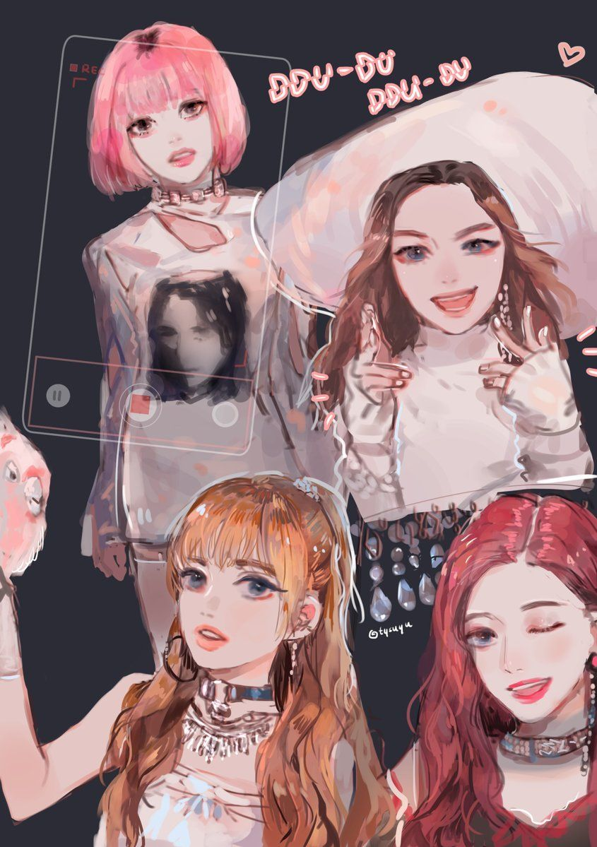Blackpink Black Pink Kpop Kpop Drawings Blackpink Lisa