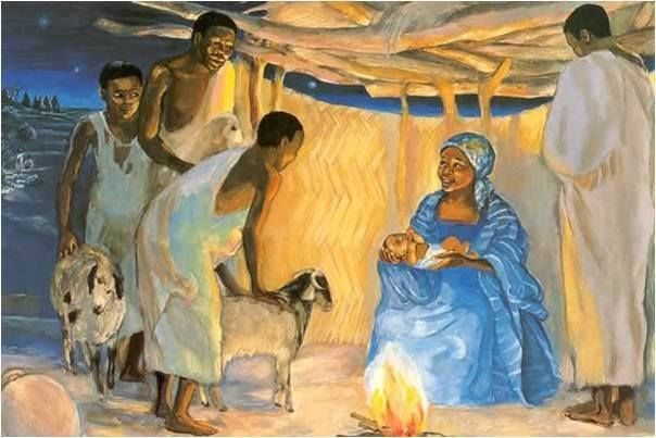 Image result for nativity jesus black