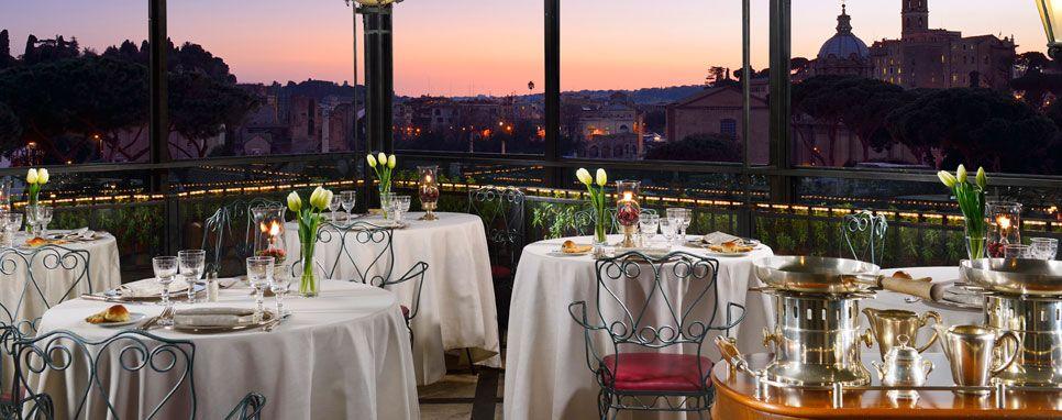 Hotel Forum Roof Garden Restaurant Rome Panoramic Restaurant Roma Birthday Dinner Roof Garden Rooftop Bar Rome Roof Garden Hotel