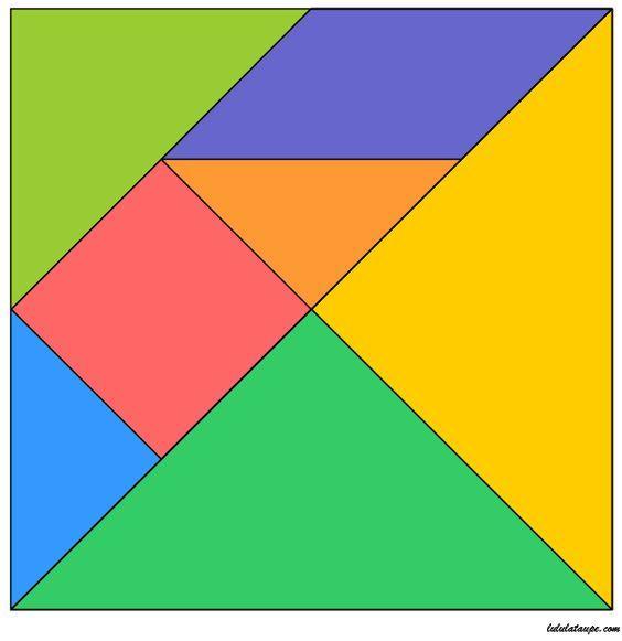 tangram à imprimer et découper   kavram sayfalari
