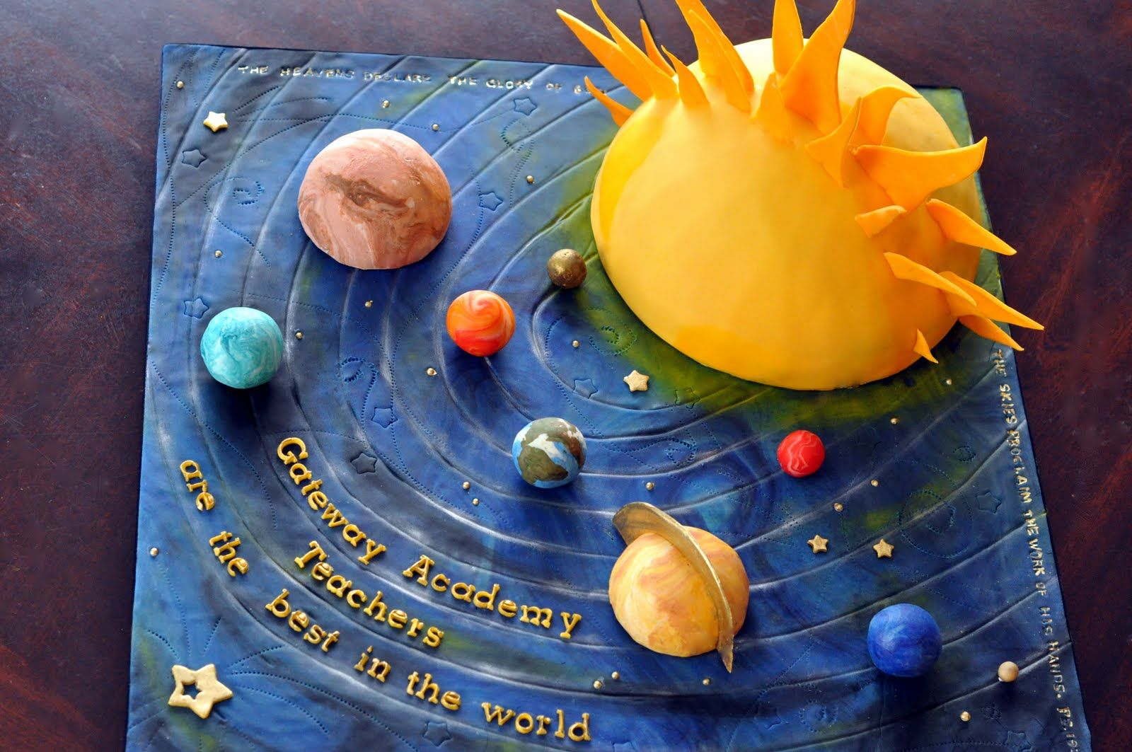 Solar system cake maybe for my daughter 39 s bday party for Outer space project