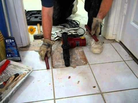Harbor Freight 10 Amp Demolition Hammer vs. Ceramic Floor Tile ...