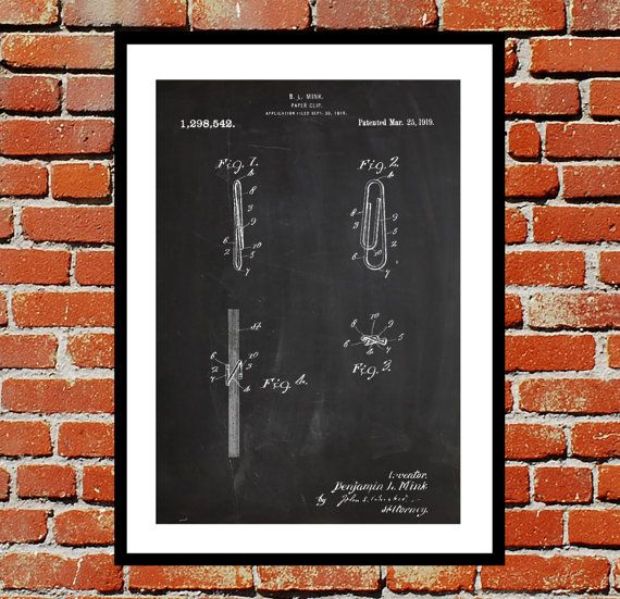 Paper clip patent paper clip poster paper clip blueprint paper paper clip patent paper clip poster paper clip blueprint paper clip print paper clip art paper clip decor by stanleyprinthouse 300 usd we use only top malvernweather Images