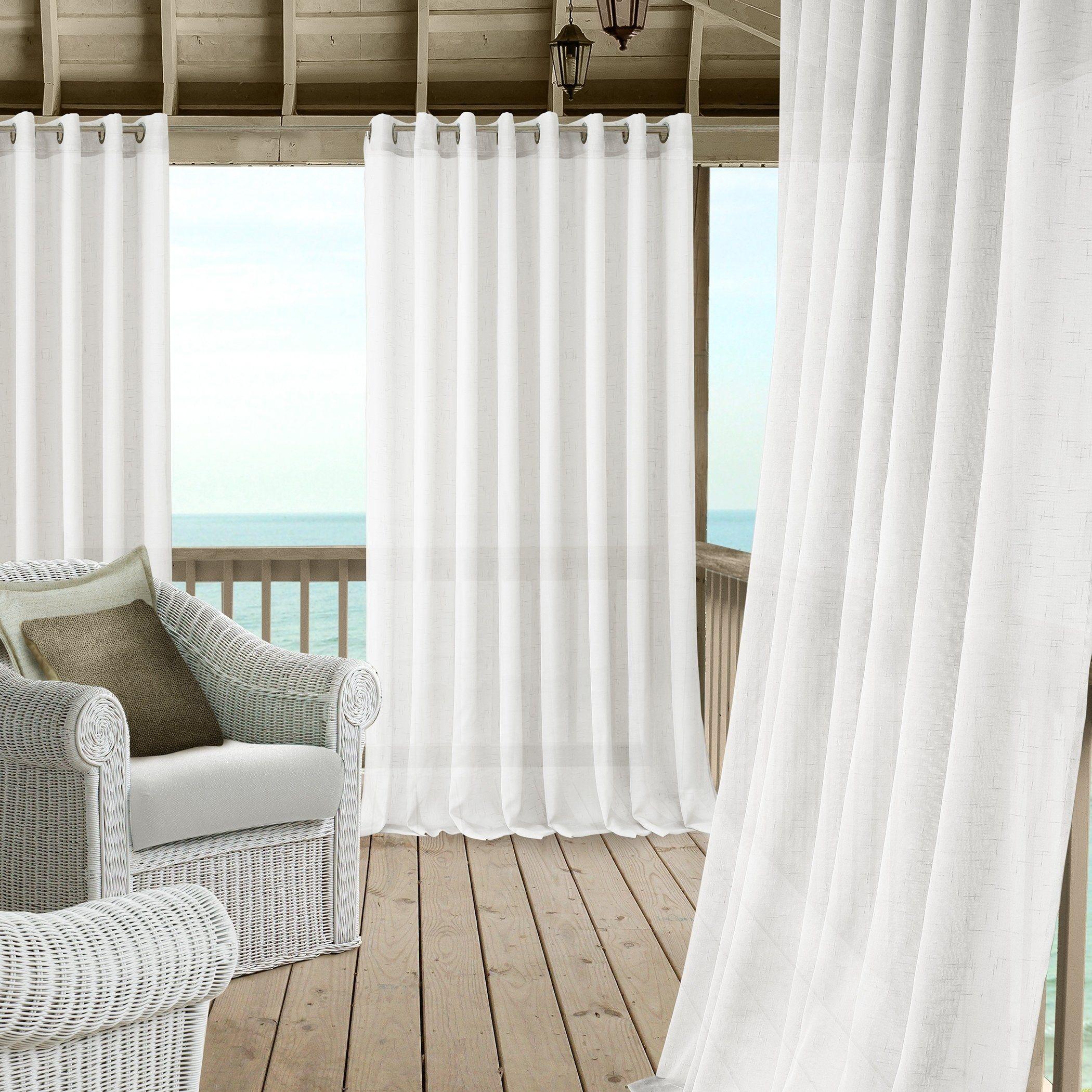 Carmen Sheer Extra Wide Indoor Outdoor Sheer Window Curtain 95 L