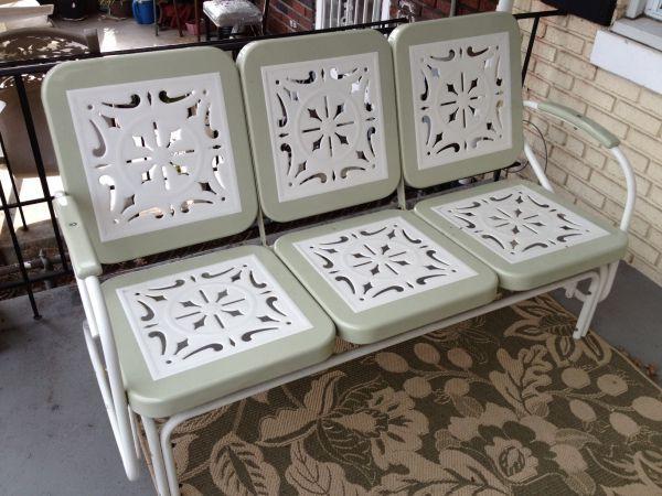 W. DC: Pottery Barn Porch Glider Patio Swing - $100 - http://furnishlyst.com/listings/1155171