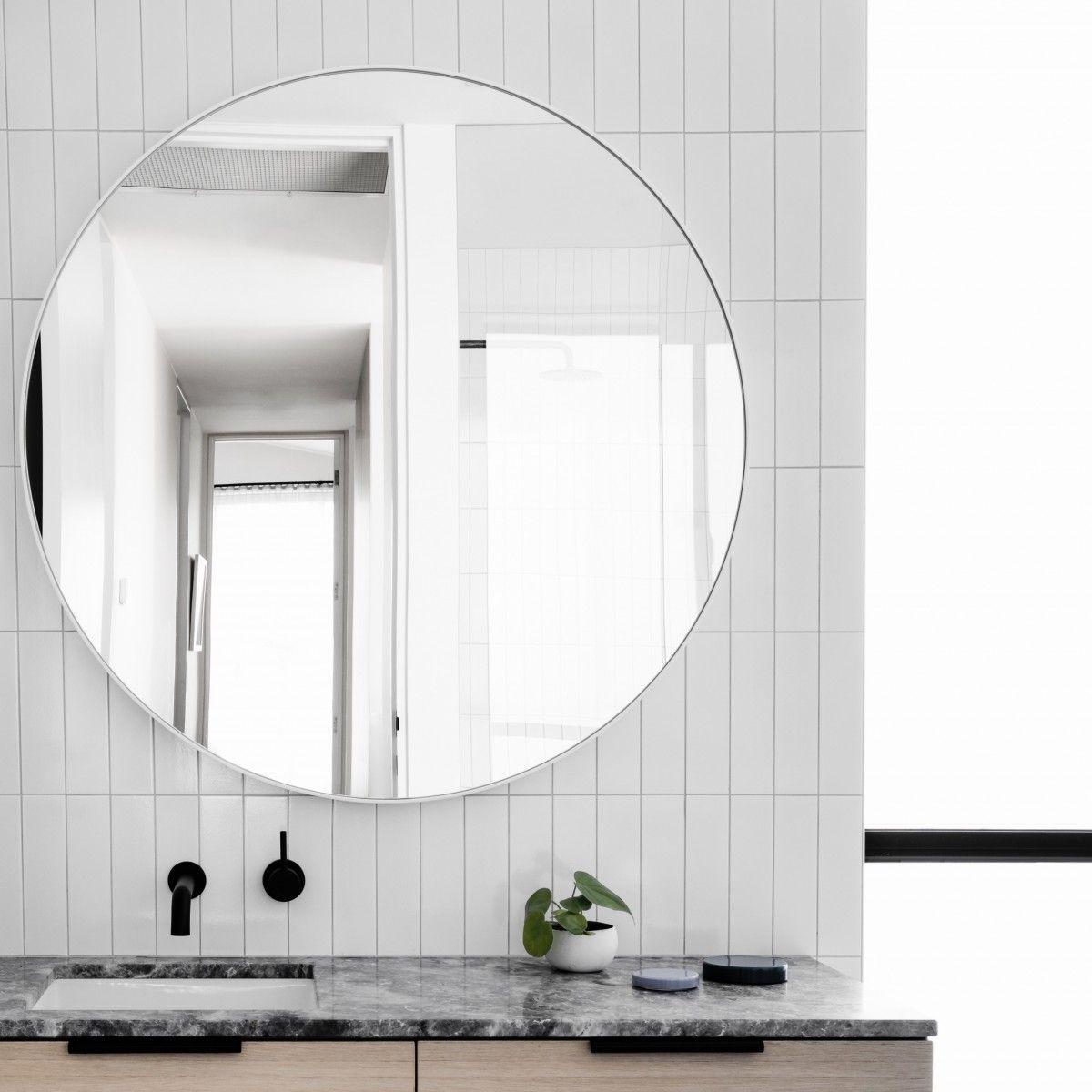 MIDDLE OF NOWHERE Flynn Round Mirror White - 3 Sizes | MODERN ...