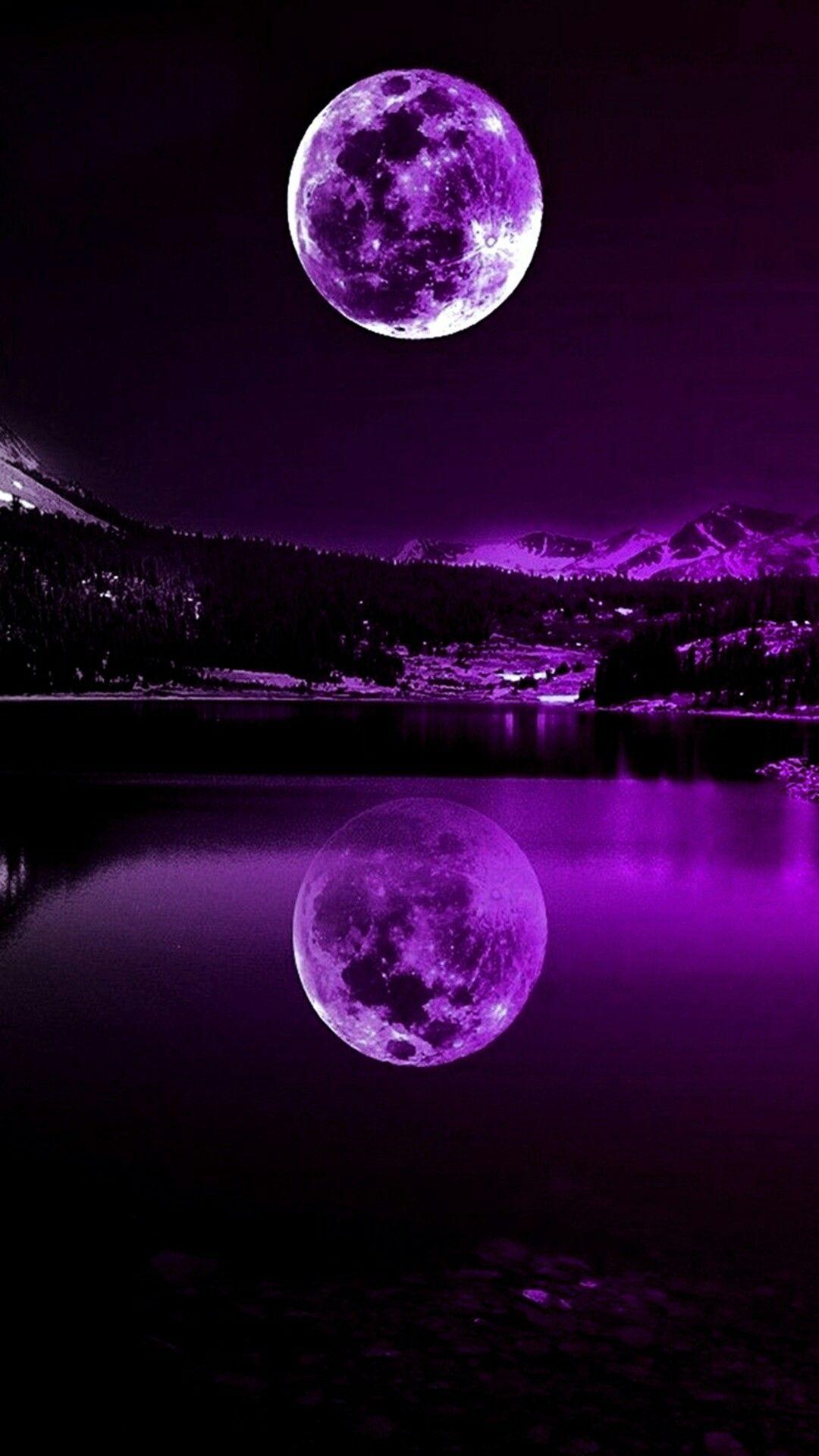 Purple moon Red moon, Beautiful moon, Moon photography