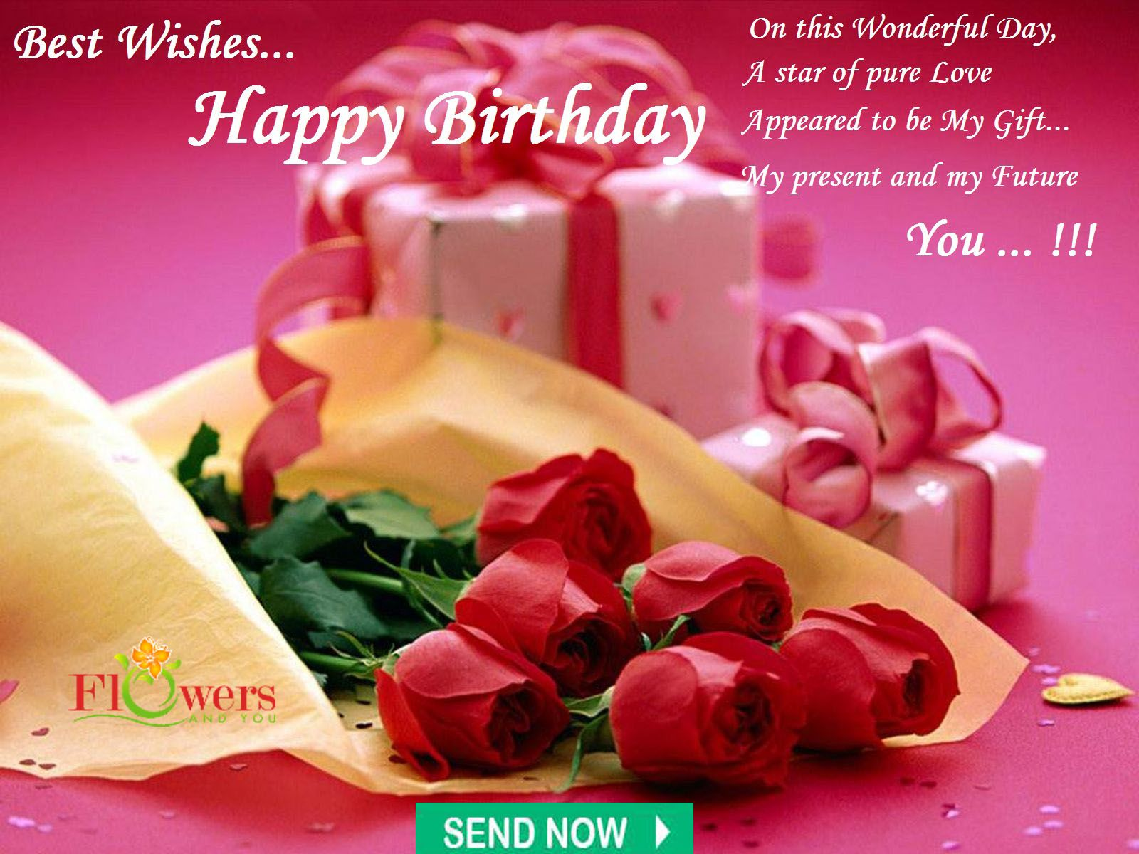 On this wonderful day send flowers and cake online anytime on this wonderful day send flowers and cake online anytime anywhere flower happy birthday izmirmasajfo