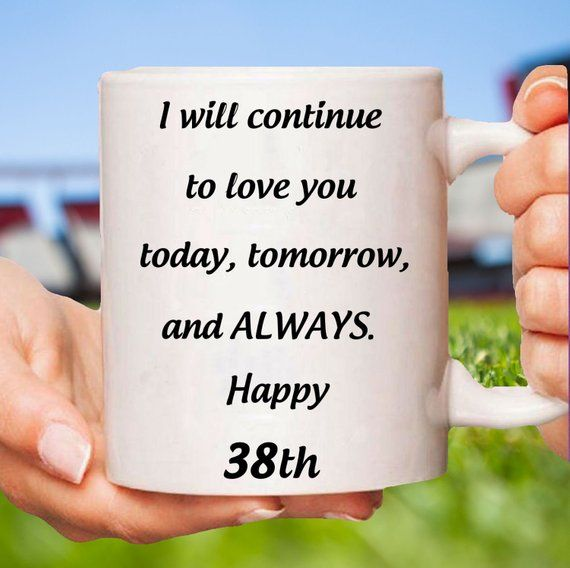 38th Anniversary Gift For Her, 38th Anniversary Gifts For Women,38th Wedding Anniversary, 38 Anniversary, 38 Year Anniversary, 38 years #38thAnniversaryMug ...