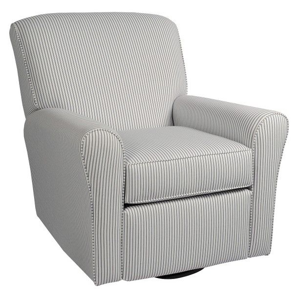 499 Little Castle Summit Recliner In Navy Stripe Glider