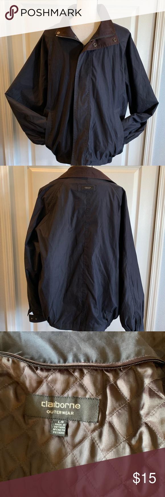 Claiborne Outerwear Men S Jacket Large Outerwear Mens Outerwear Claiborne [ 1740 x 580 Pixel ]