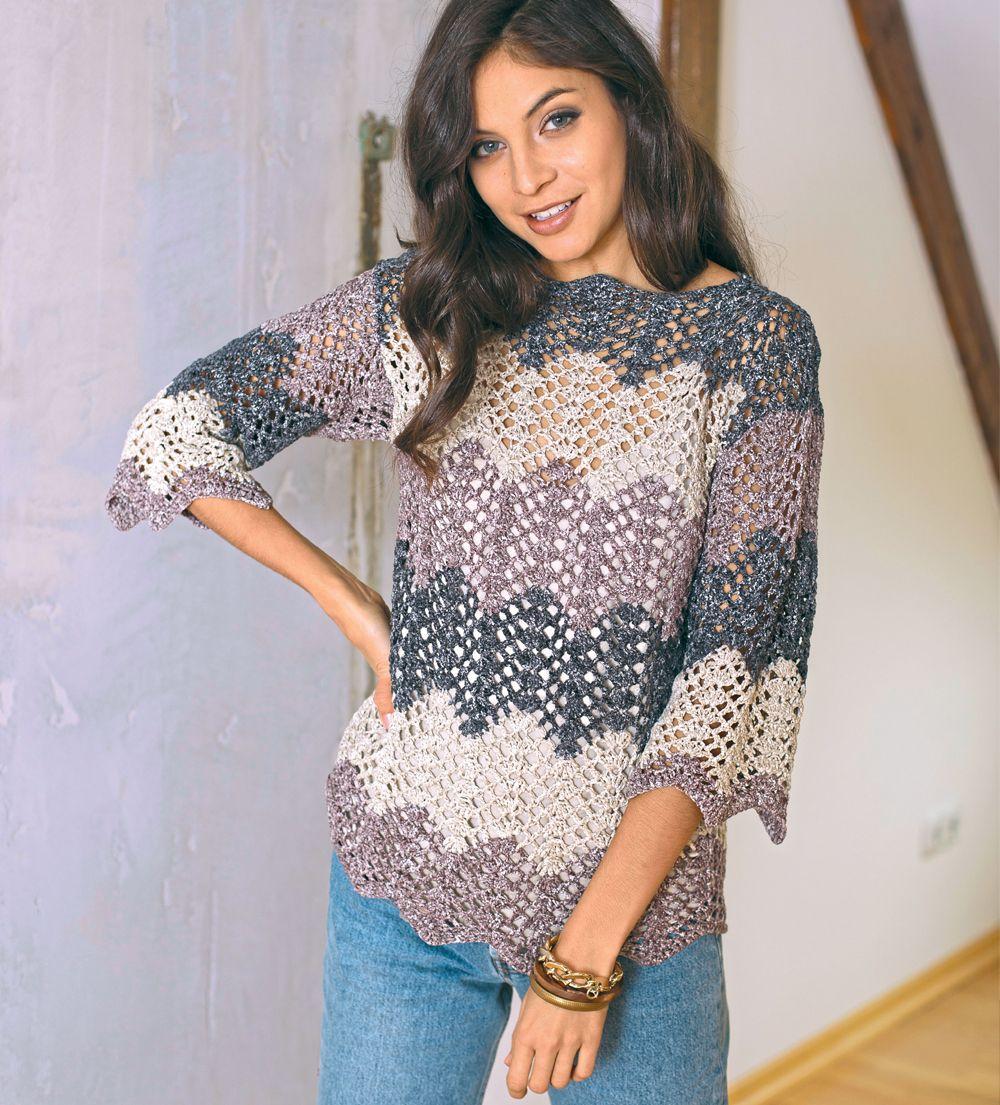 puente de calado con el patrón ondulado   crochet   Pinterest ...