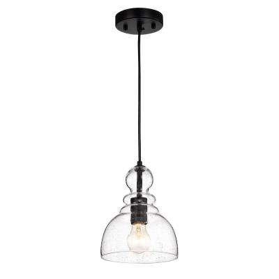 Nefelt 1 Light Matte Black Pendant Black Pendant Lamp Black Pendant Light Single Pendant Lighting