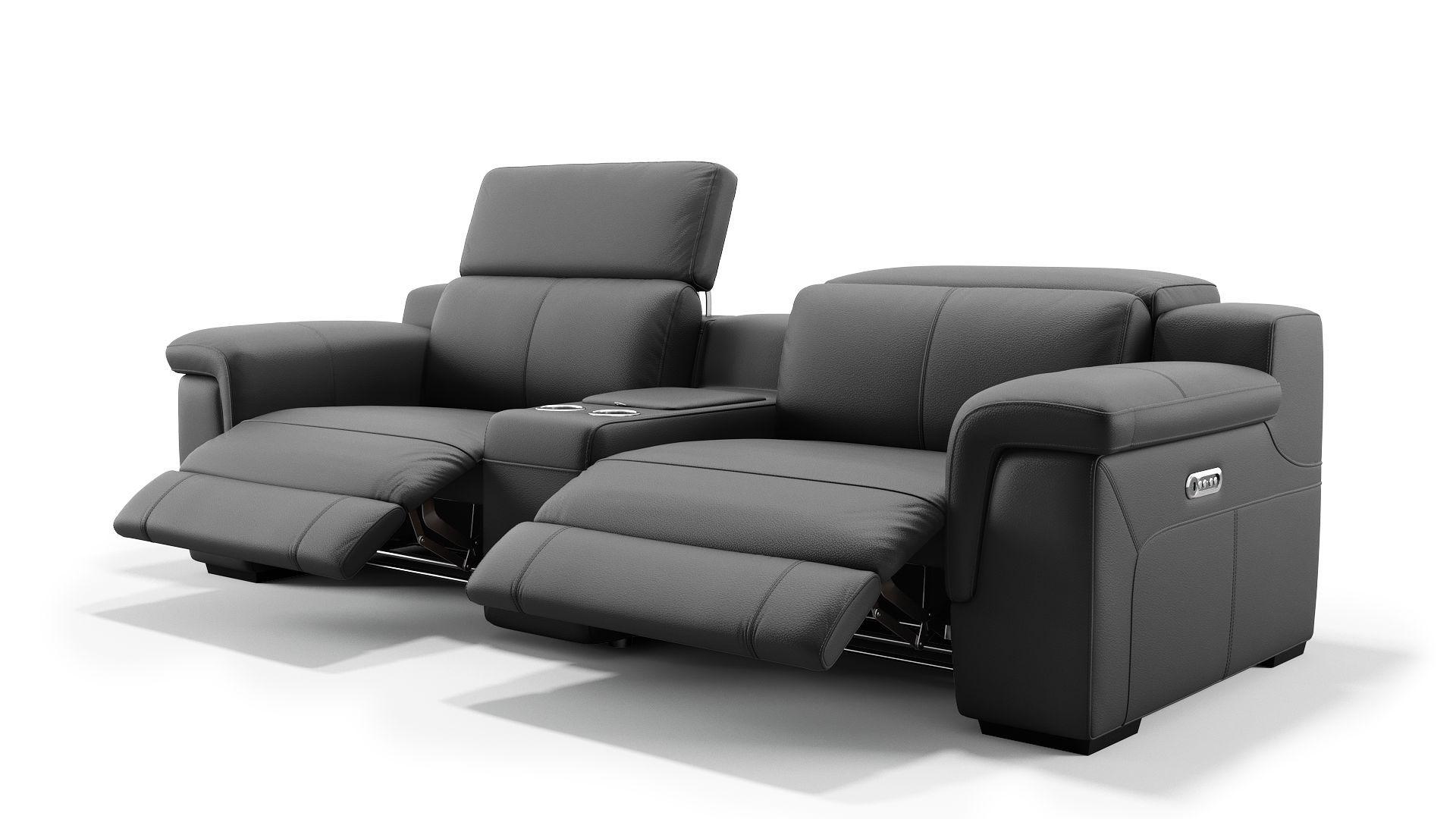 Gewaltig Couch Relaxfunktion Beste Wahl Details Elektrische Per Knopfdruck An Beiden Sitzen