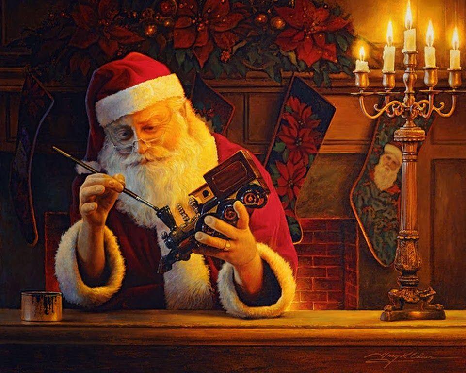 Cuadros oleo pinturas de santa claus navidad pinterest for Cuadros de navidad