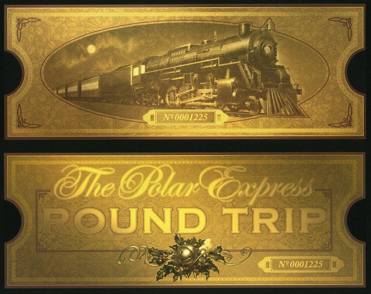 picture about Printable Polar Express Ticket identified as Printable polar convey teach ticket Xmas Polar