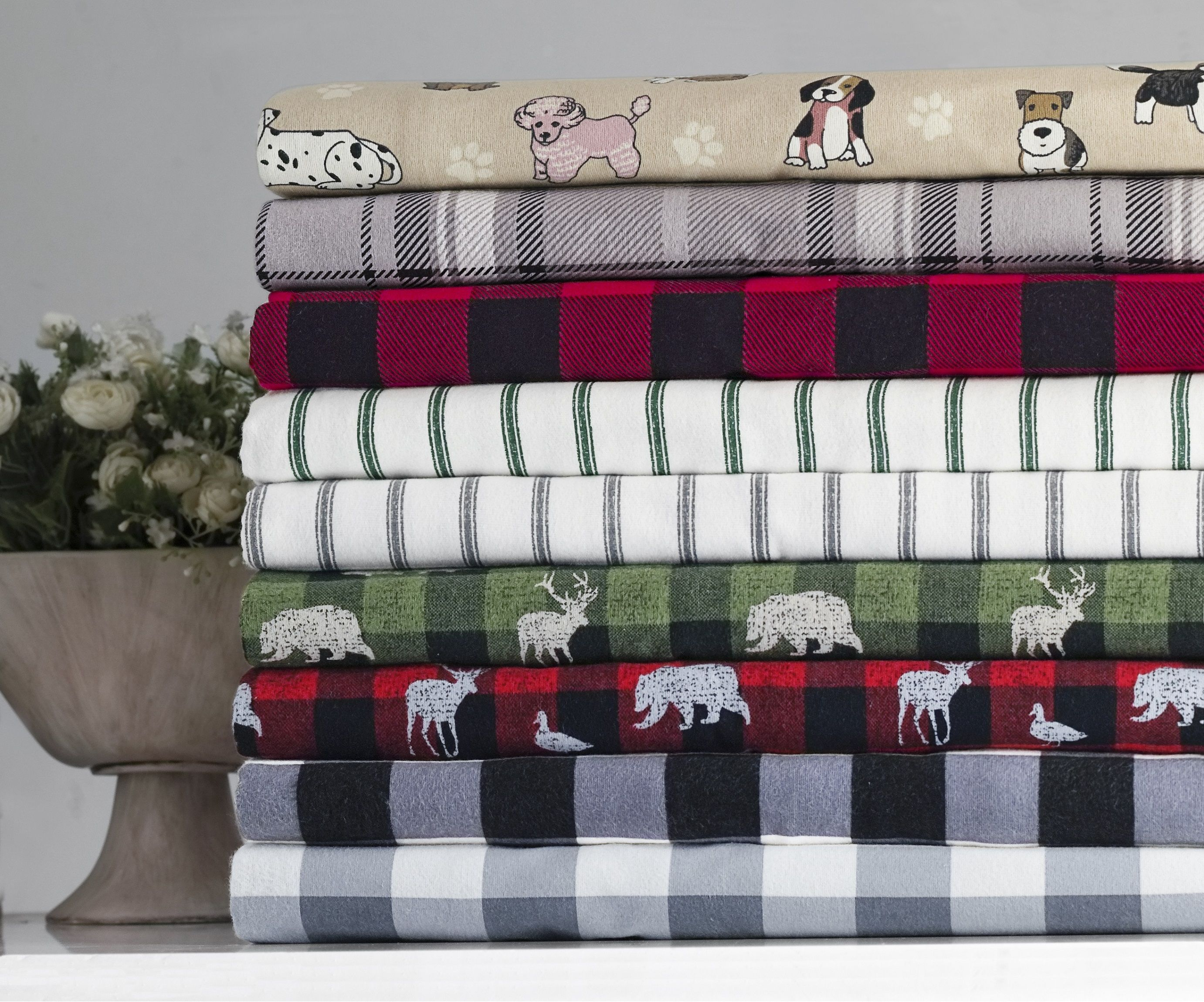 Free 2 Day Shipping Buy Mainstays Buffalo Plaid 155 Gsm 100 Cotton Flannel Sheet Set Black Queen At Walmart Flannel Bed Sheets Comforters Cozy Sheet Sets