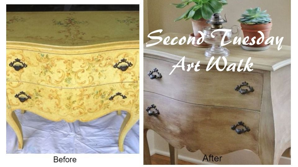 Second Tuesday Art Walk #7: Dresser and Cabinet Makeovers - My Sweet Cottage
