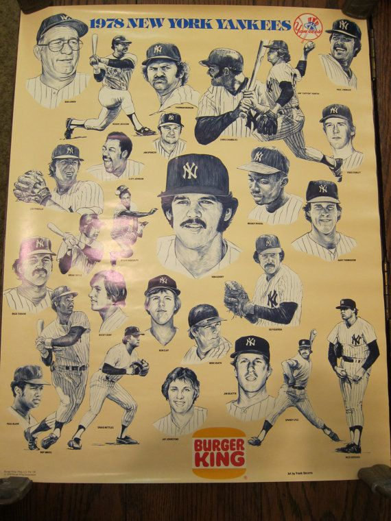 1978 New York Yankees Poster | Baseball | Pinterest | Ny yankees ...
