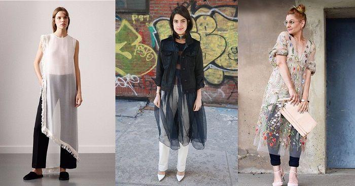 75c2eef42f8 Прозрачное платье + брюки - очень женственное сочетание Модные Вязаные  Вещи