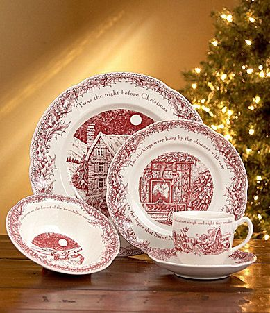 noble excellence twas the night before christmas dinnerware dillards