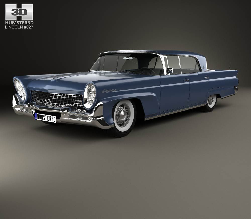 Lincoln Continental Mark Iii Landau 1958 3d Model From Humster3d Com