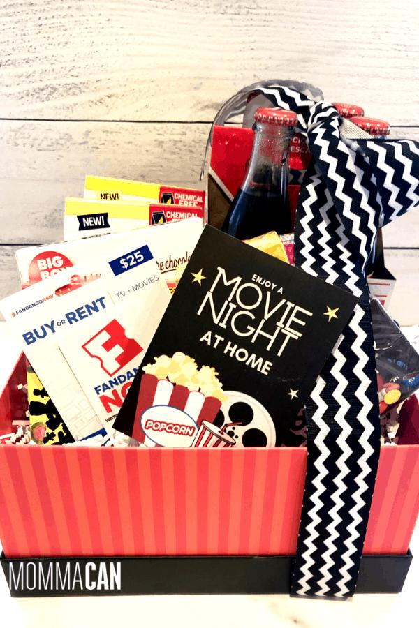 Movie Night In Gift Basket