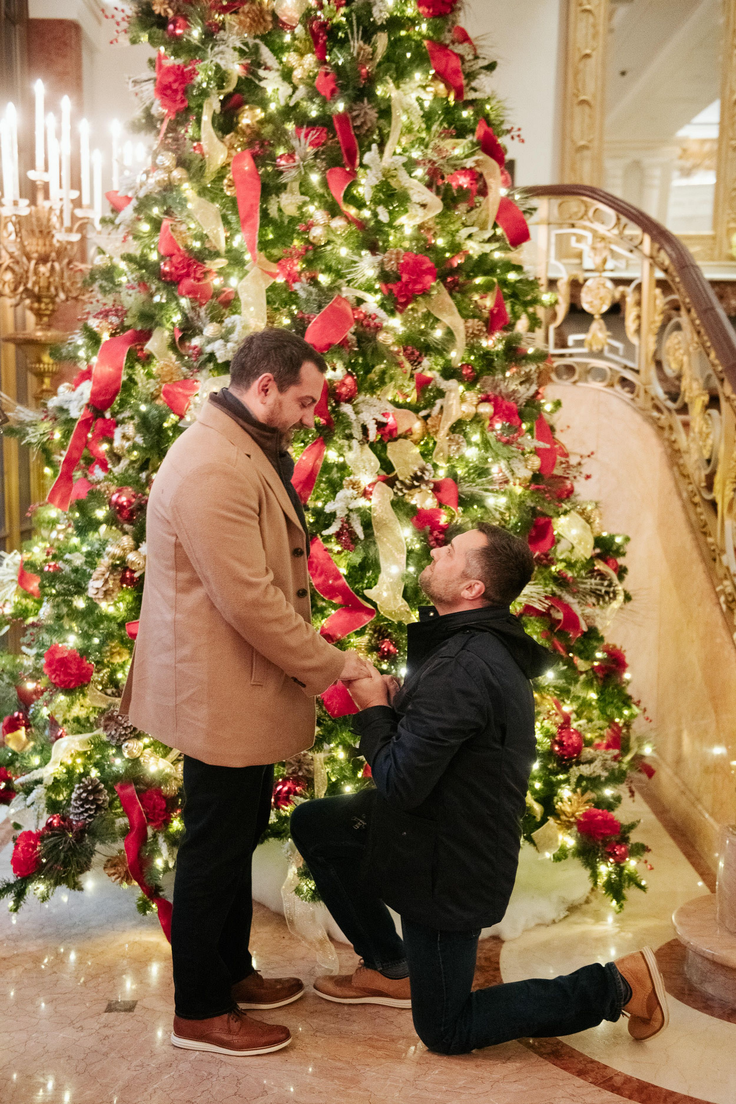2020 Christmas Proposal Romantic Christmas proposal in Lotte Hotel in New York, New York