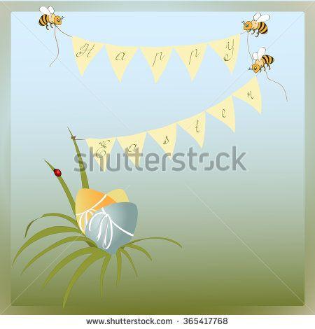 Easter background stock illustration - stock photo