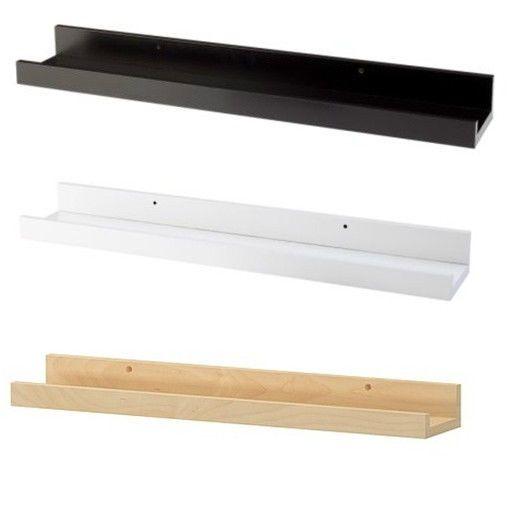 Ikea Picture Ledge 22 Quot Floating Shelf Black White Spice