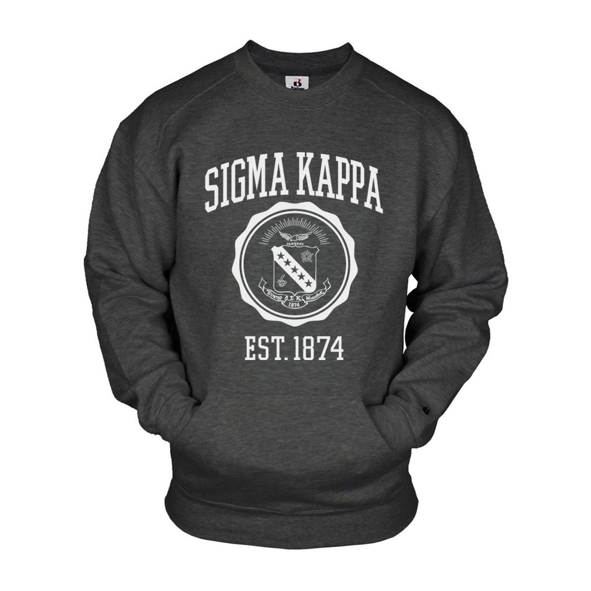Campus Classics Tau Kappa Epsilon Crew Neck Sweatshirt Sewn On Greek Letters