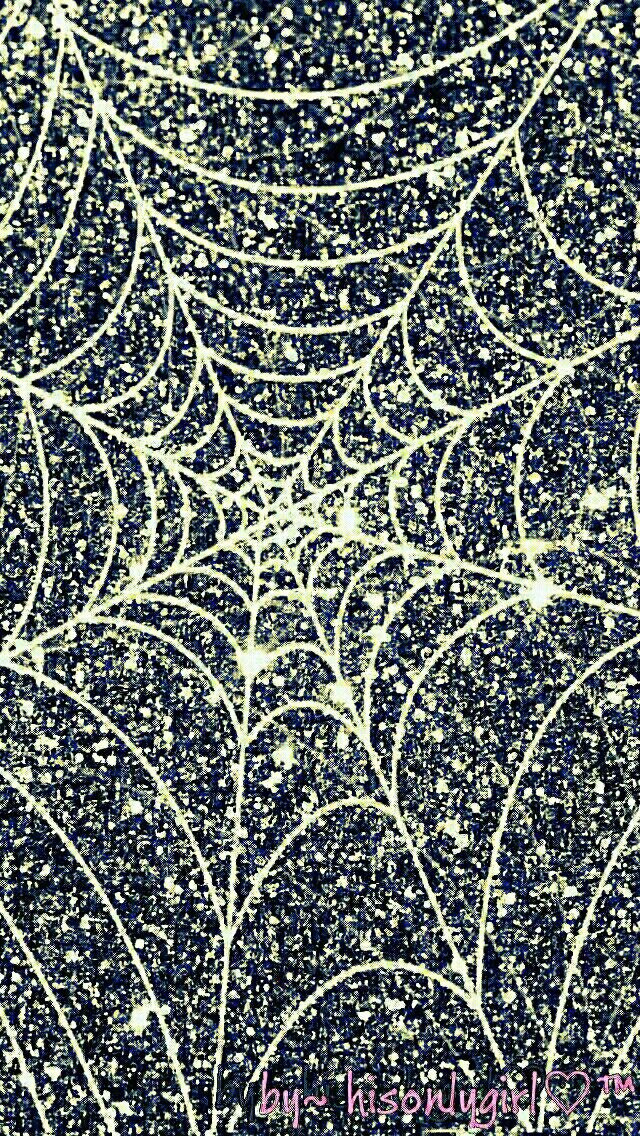 Glitter Spider Web Wallpaper I Created For The App CocoPPa Black Wallpapers
