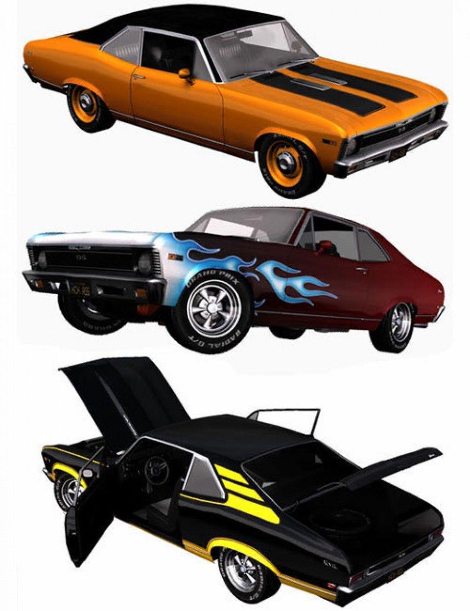 1968 AM Muscle Car | Daz3D Vehicles | Pinterest | Muscles