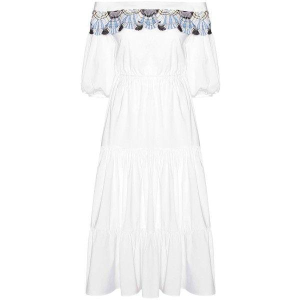 Peter Pilotto Long Pallas cotton-blend dress (44635 TWD) ❤ liked on Polyvore dc19d86a092c0