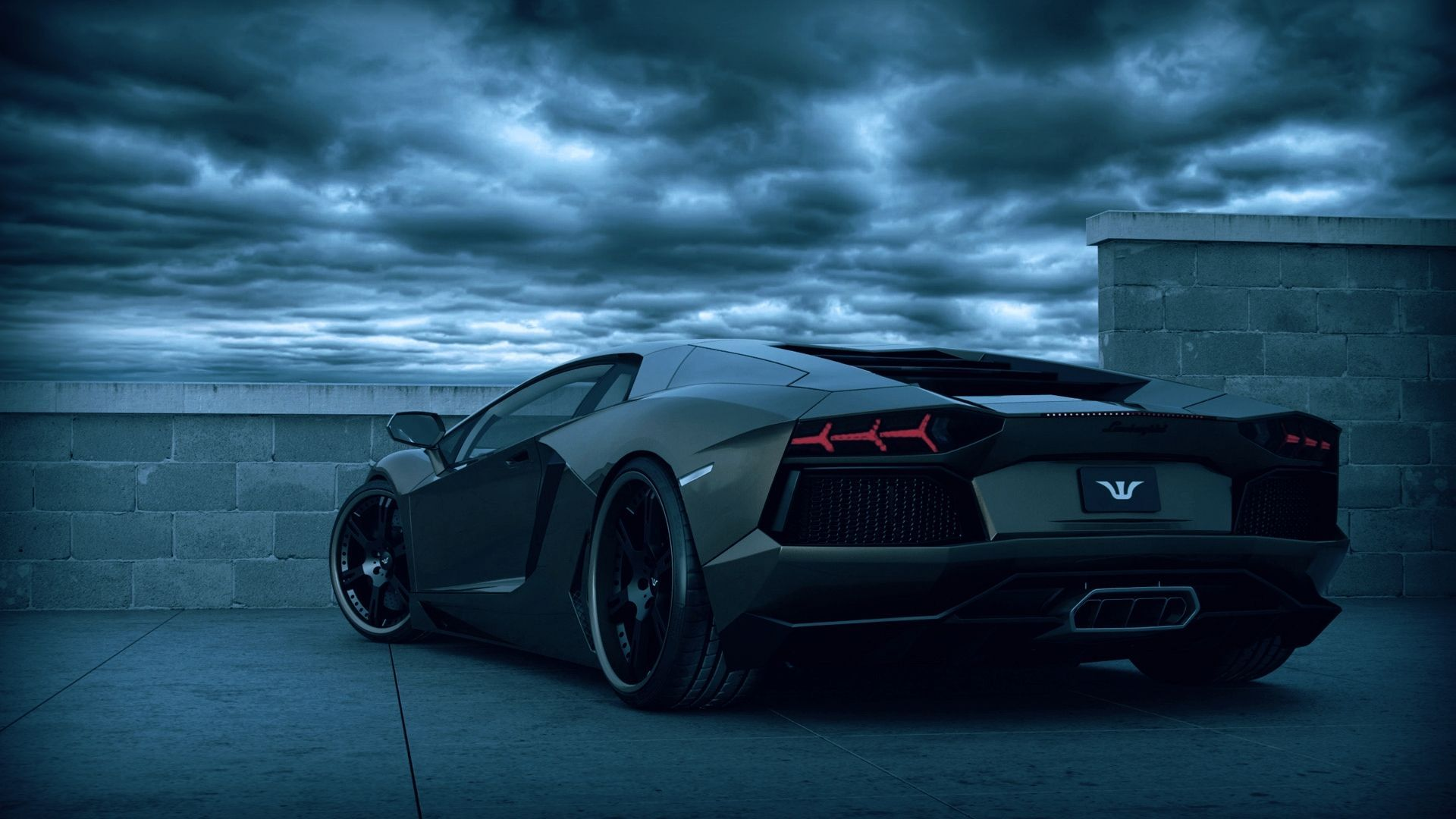 Lamborghini Aventador Black Ghost Special Car Wallpaper Cool