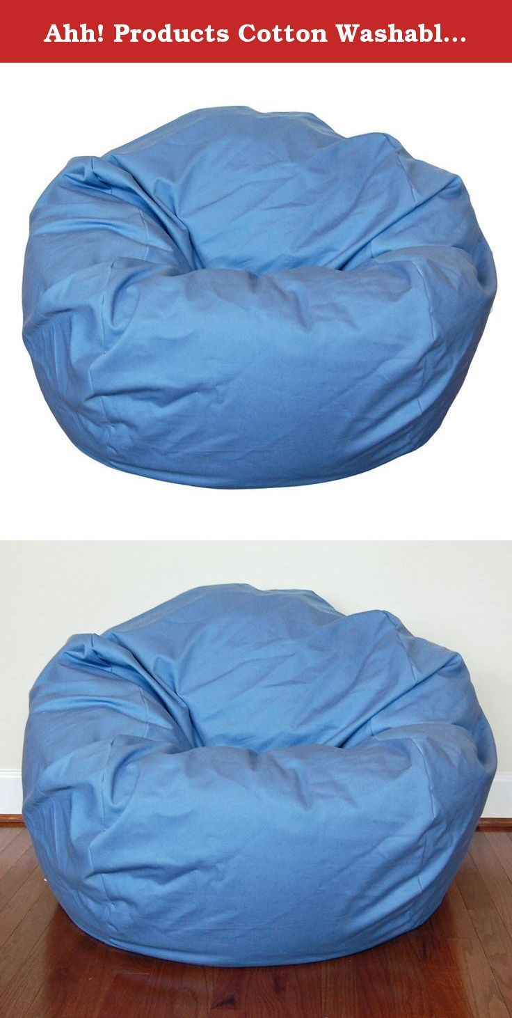 Ahh Products Cotton Washable Bean Bag Dusty Blue Large Chairs Are Sure To Be A Favorite From Toddler Years And Last Through