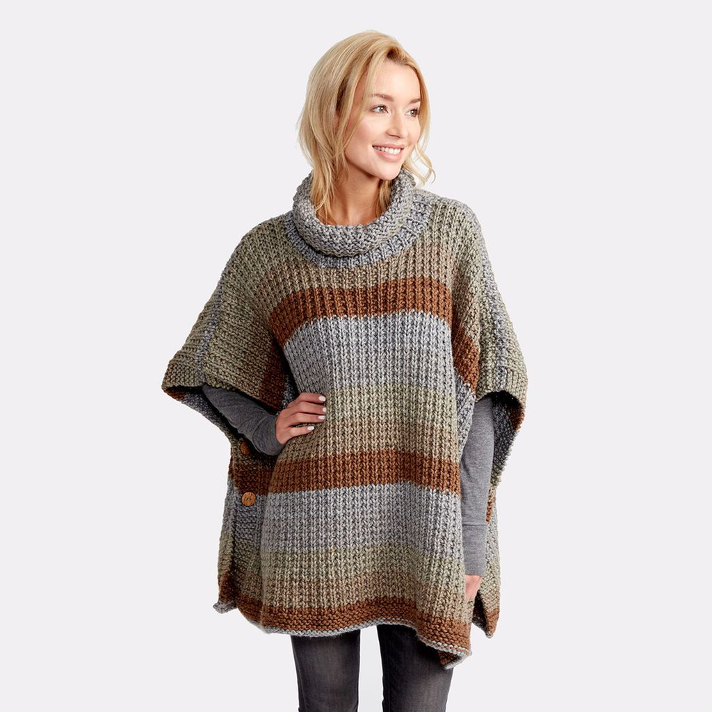 Caron® Tea Cakes™ Cozy Up Knit Poncho