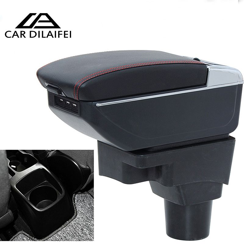 Car Armrest Central Store Content Storage Box Case For Chevrolet Aveo Sonic Lova With Cup Holder Ashtray 3 Colors