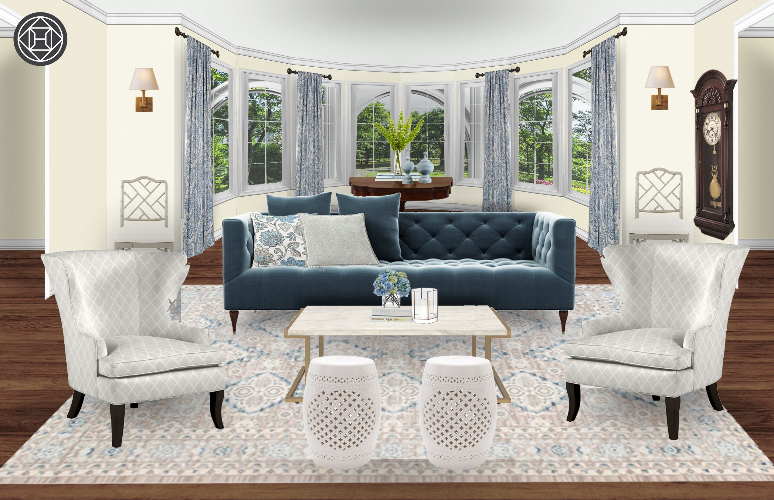 Classic Glam Traditional Living Room Design By Havenly Interior
