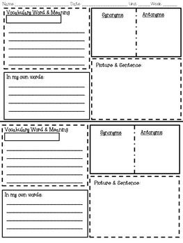 Vocabulary strategies graphic organizer also these free organizers include note taking charts rh pinterest