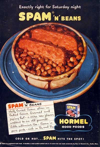 Lets Just Throw Some Spam In A Vat Of Baked Beans Call It Dinner